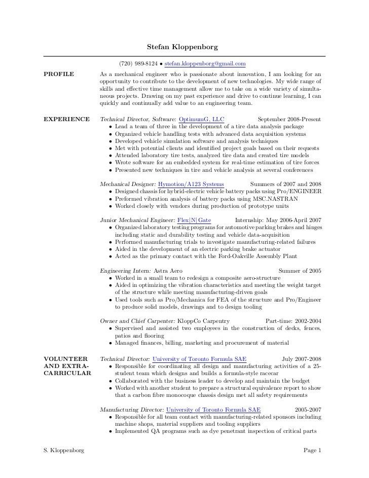 machinist sample resume