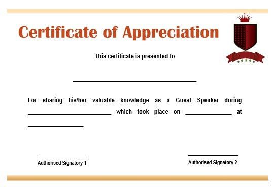 Certificate of appreciation wordings how to write a certificate 12 genuine samples of certificate of appreciation for guest yadclub Choice Image