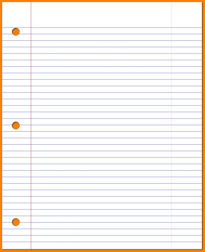 10+ lined notebook paper | cashier resume
