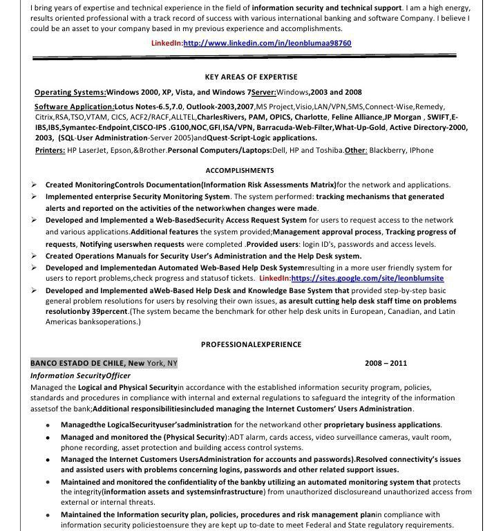 Resume Information - Resume Example