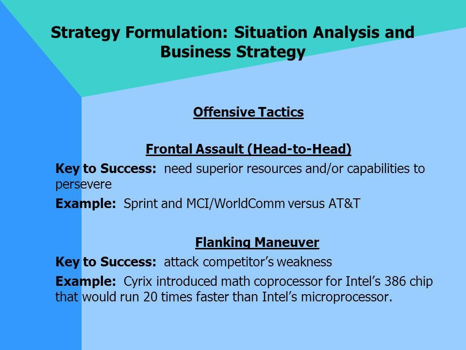 Strategy Formulation: Situation Analysis and Business Strategy ...