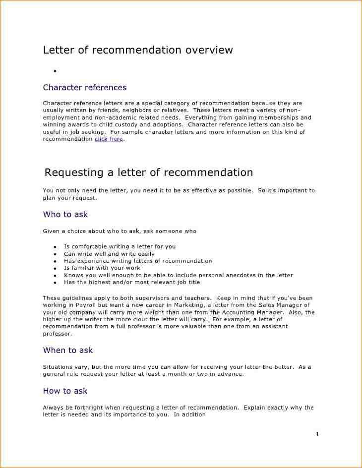 Sample Professor Recommendation Letter. Editable College ...