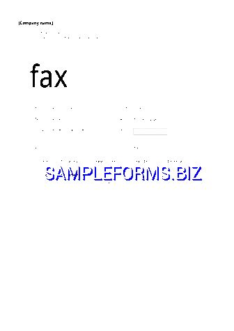Fax Cover Sheet templates & samples forms