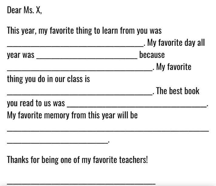 Teacher Appreciation Week: These are a Few of My Favorite Things ...