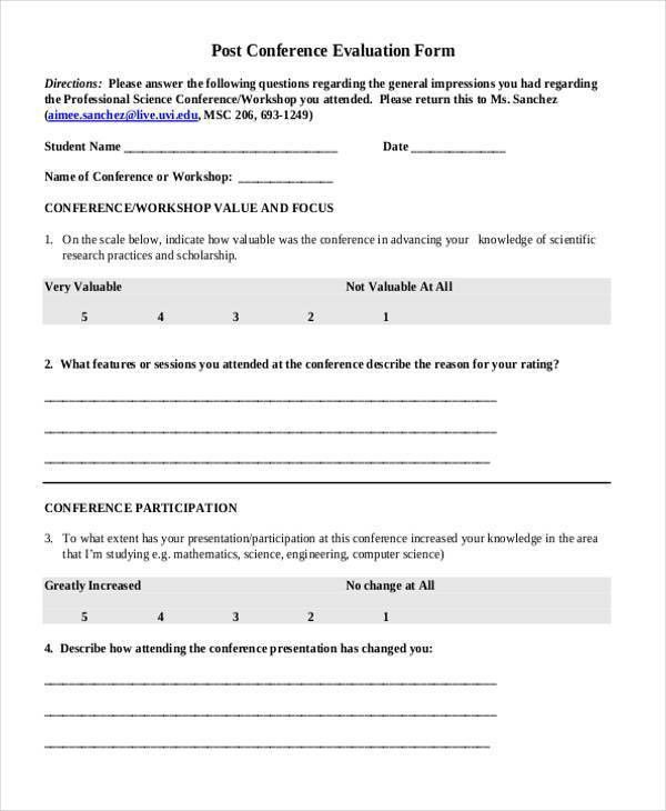 Training evaluation form 15 download free documents in word pdf – Job Evaluation Template