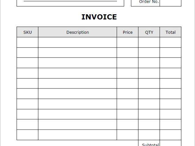 Occupyhistoryus Stunning Create Excel Invoice Template Free Sample ...
