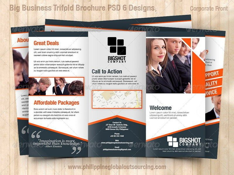 A4 Trifold Brochure Template PSD 6 Variations #1 by ...