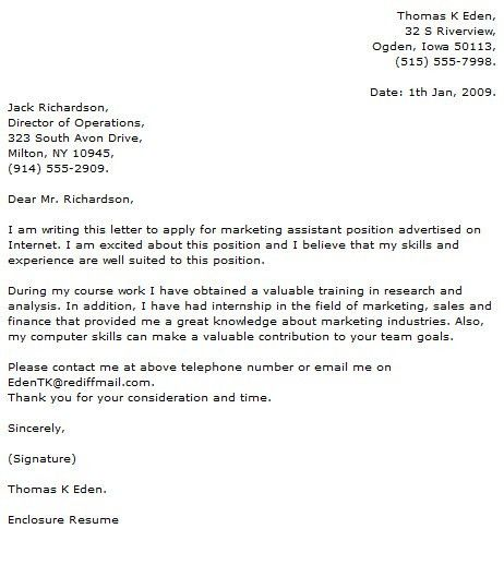Marketing Cover Letter Examples - Cover Letter Now