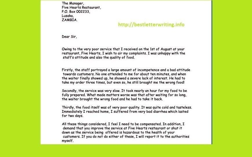 Business Letter Writing Tips Example | The Best Letter Sample