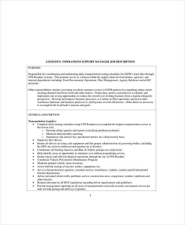 Leasing Manager Job Description Apartment Leasing Agent Cover – Logistics Manager Job Description