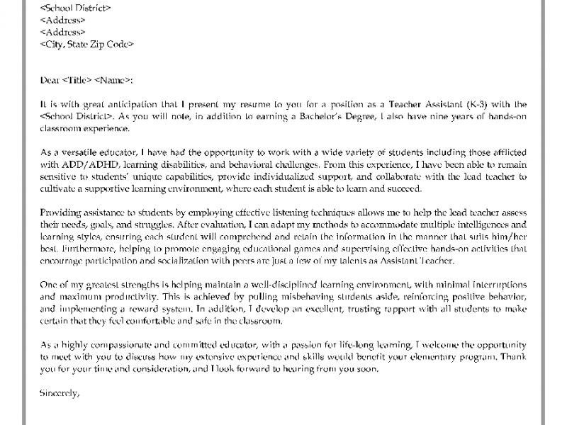 cover letter kindergarten teacher experience resumes. teacher job ...