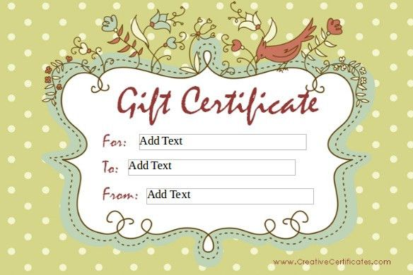 Free Printable Gift Voucher] Best 25 Printable Gift Certificates ...