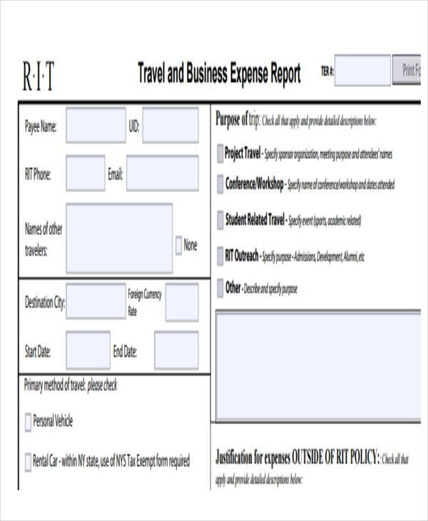 28 Expense Report Templates | Free & Premium Templates