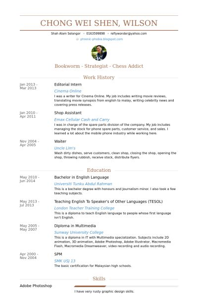 Editorial Intern Resume samples - VisualCV resume samples database