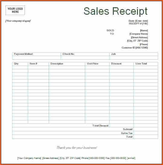 10+ printable sales receipt - Budget Template Letter