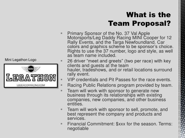 Leg Daddy Racing Sponsorship Proposal
