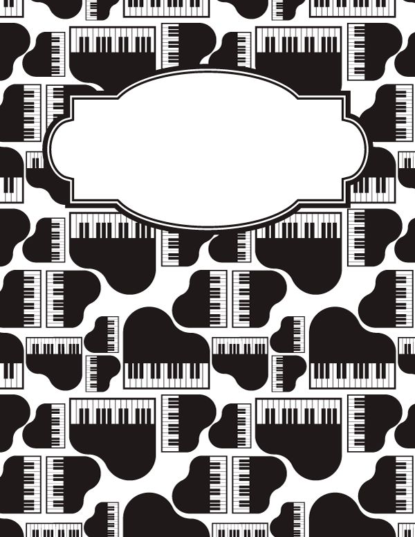 Free printable piano binder cover template. Download the cover in ...