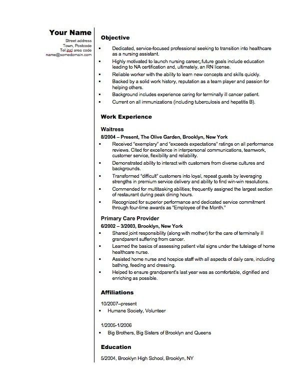 Entry Level Resume Example. Resume Profile Examples Entry Level .