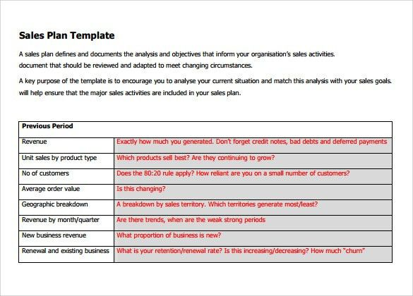 Sample Sales Plan Template - 17+ Free Documents in PDF, RTF, PPT ...