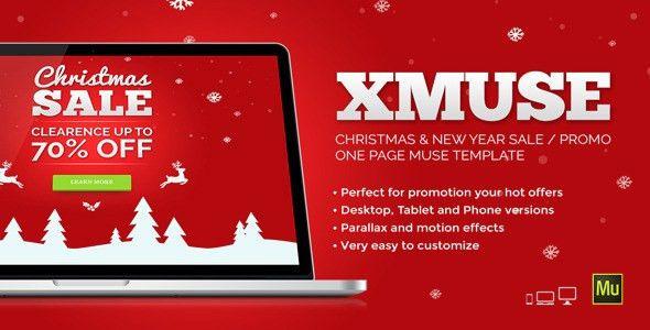 XMuse - Christmas Sale / Promo Muse Template by vinyljunkie ...