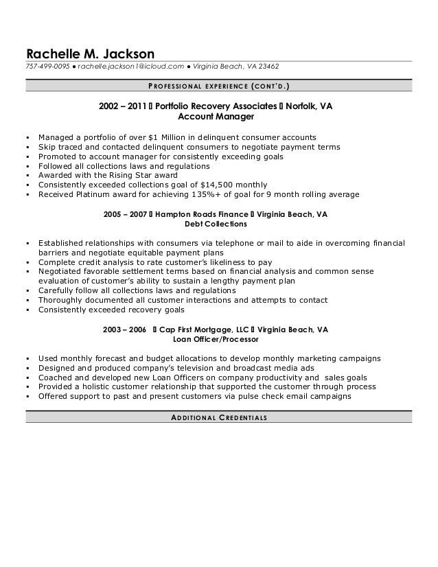 Mortgage Processor Resume - Template Examples