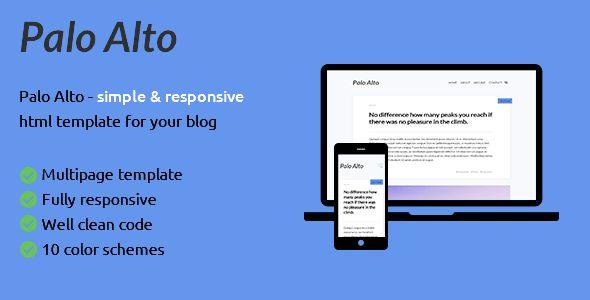 Palo Alto - is html blog template by stylesam | ThemeForest