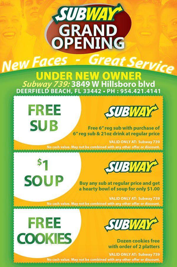 Subway Restaurant Grand Opening Flyer Design - Tight Designs ...