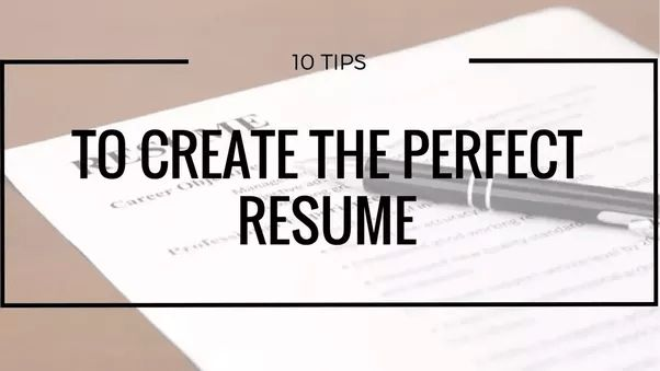 What does a perfect resume look like? What all it should contain ...