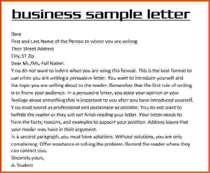 example of business letter | Sponsorship letter