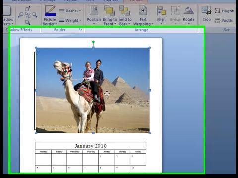 Free Photo Calendar Template in MS (Microsoft) Word Format for 2017