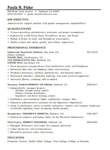 Project Management Assistant Resume Samples. assistant project ...