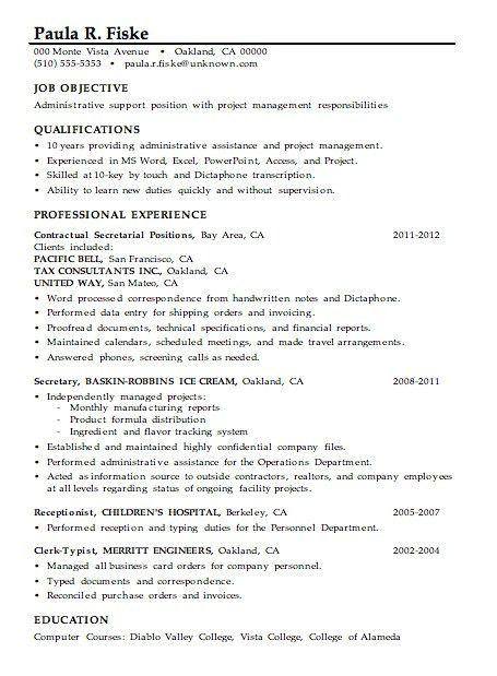 Administrative Assistant Resume Skills | Template Design