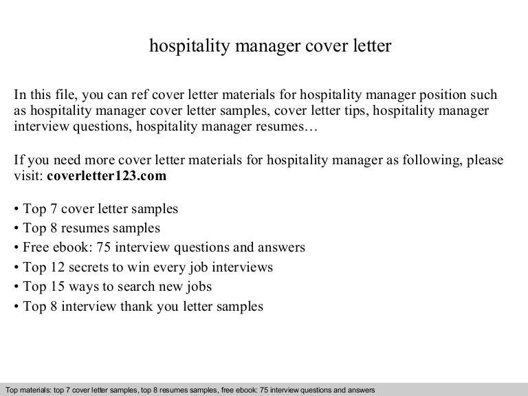 cover letter examples sample cover letter for hospitality ...
