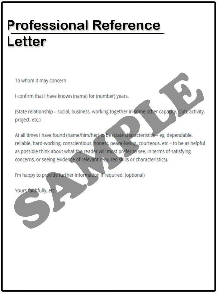 Professional Reference Letter Example - SampleBusinessResume.com ...