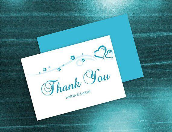DIY Printable Wedding Thank You Card Template #2410844 - Weddbook