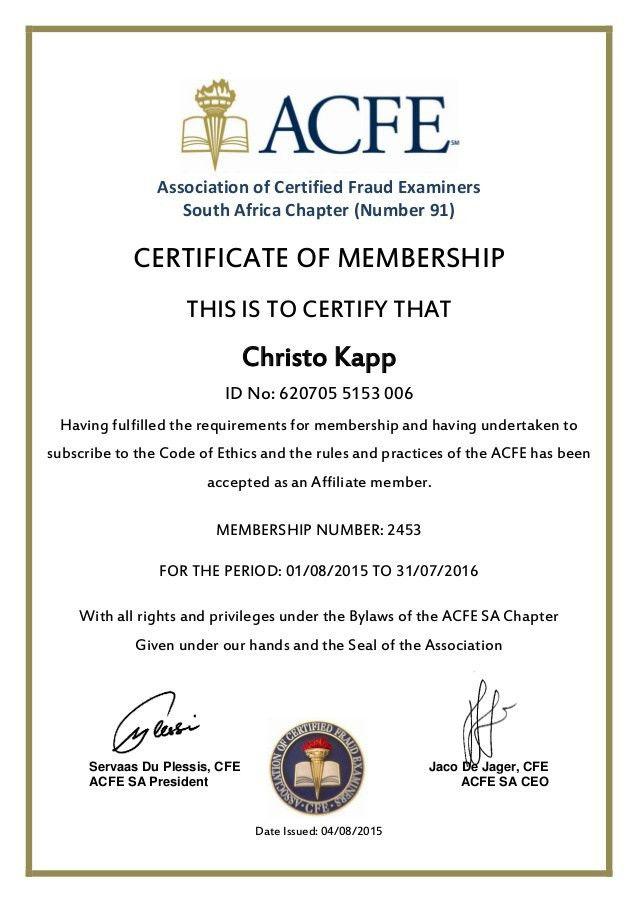 Membership Certificate Template | Certificate Templates