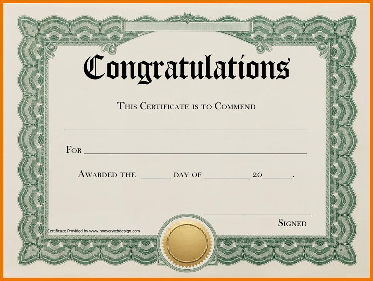 Congratulations Certificate Template.congratulations Certificate 2 ...