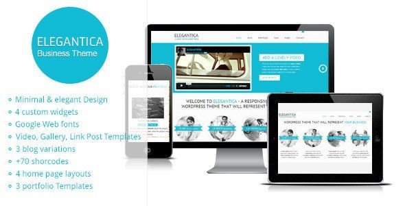 Elegantica - Responsive Business Wordpress Theme by gljivec ...