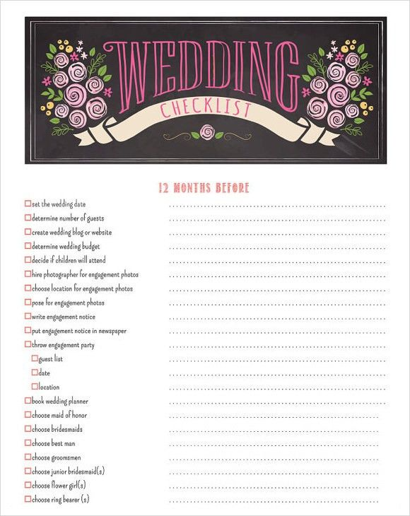 Sample Wedding Planning Checklist Template. The Importance Of ...