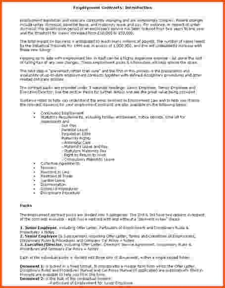 12+ employment contract template free | Survey Template Words