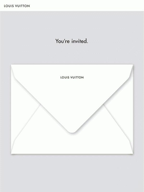 Louis Vuitton Animated Invitation Template on Behance