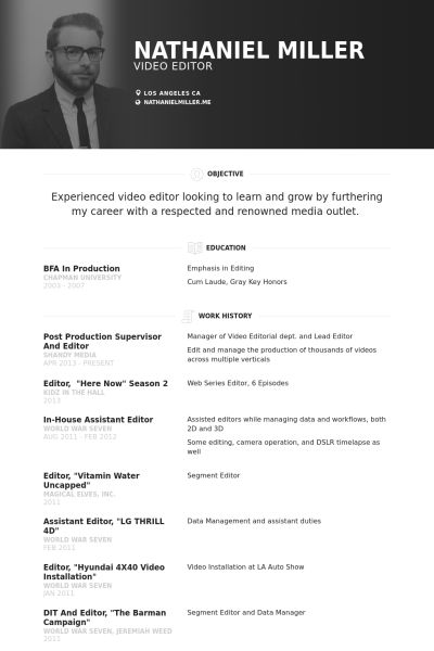 Production Supervisor Resume samples - VisualCV resume samples ...