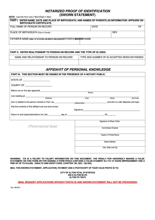 26 Sworn Statement Form Templates free to download in PDF, Word ...