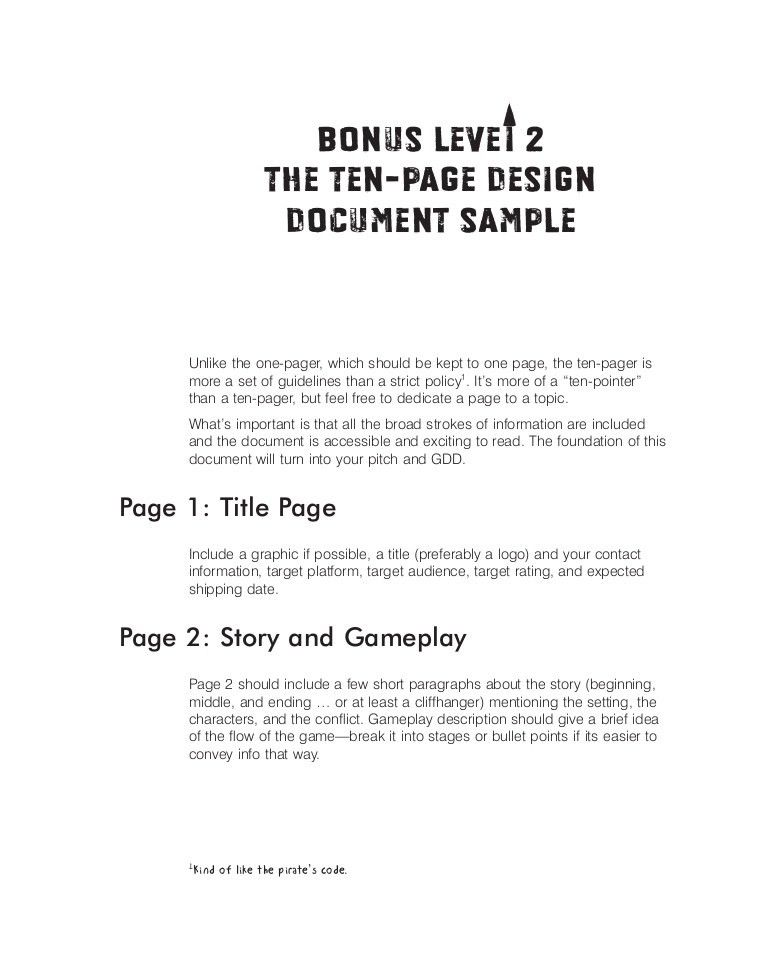 Ten page document