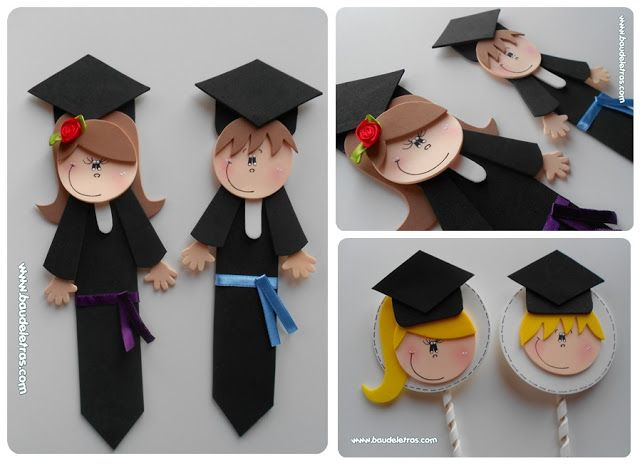 Souvenirs graduación goma eva - Imagui