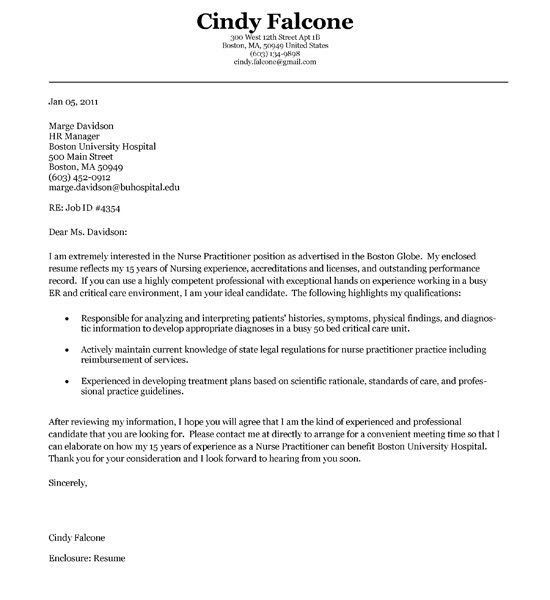 Projects Design Nurse Cover Letter 12 Practitioner Example - CV ...