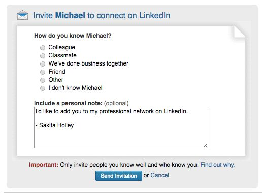 6 Linkedin Invitation Templates that Get a Response Every Time ...