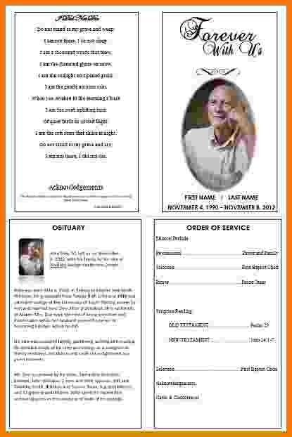 7+ free memorial service program template   Itinerary Template Sample