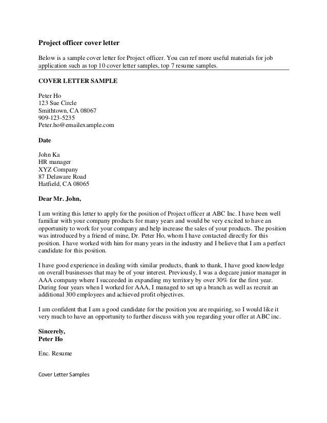 Writing A Good Covering Letter 2 Excellent Cover Letters For ...