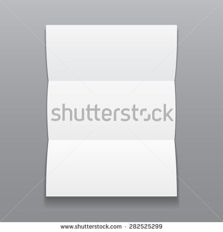Blank Trifold Paper Brochure Shadows On Stock Vector 282525299 ...